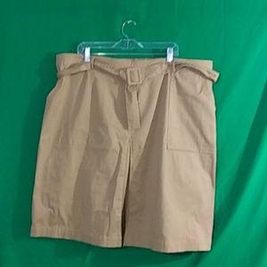 Ava & viv 2x tan belted utility skirt w/ pockets